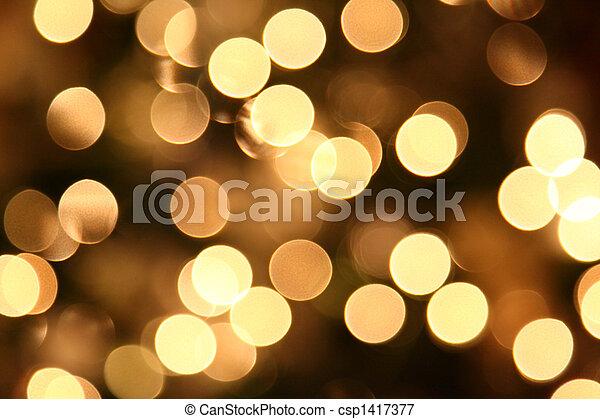 Blurred Christmas Lights - csp1417377