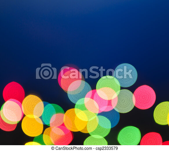 Blurred Christmas lights - csp2333579