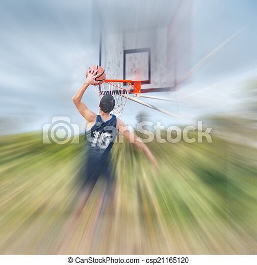 blurred dunk - csp21165120