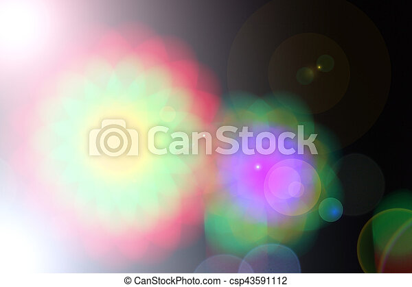 Blurred fairy lights background - csp43591112
