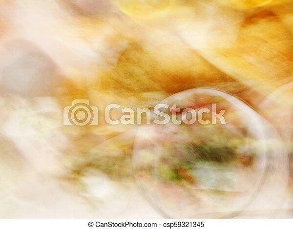 Blurred food in restaurant. abstract motion blur effect - csp59321345