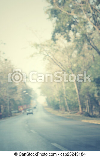 Blurred forest with road - csp25243184