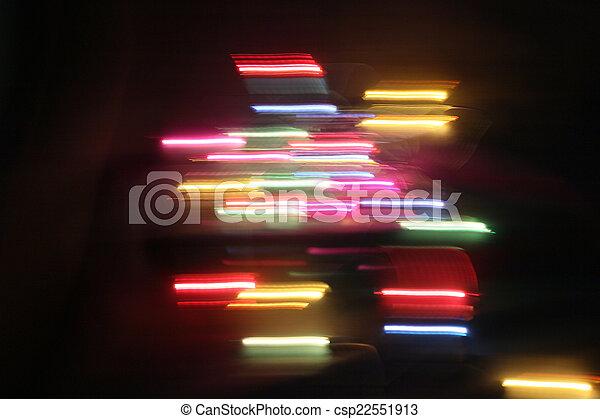 blurred light trails - csp22551913