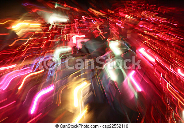 blurred light trails - csp22552110
