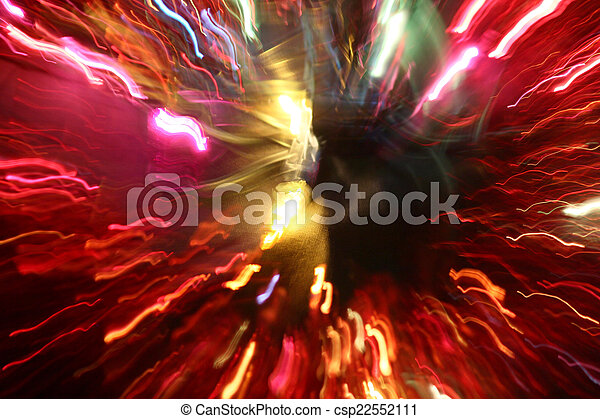 blurred light trails - csp22552111