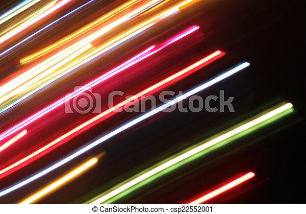 blurred light trails - csp22552001