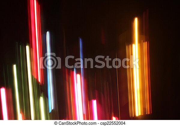 blurred light trails - csp22552004