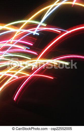 blurred light trails - csp22552005