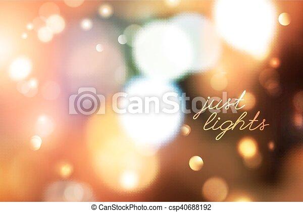 blurred lights background - csp40688192