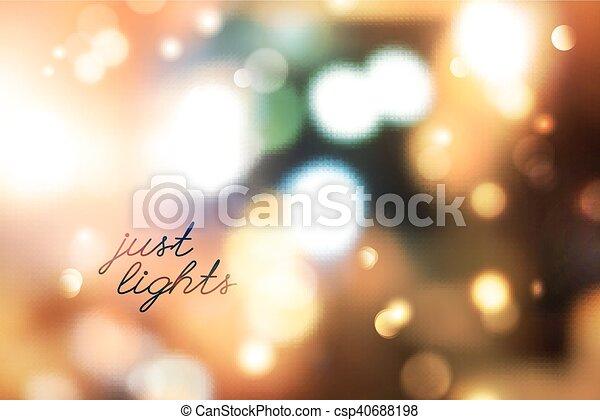 blurred lights background - csp40688198