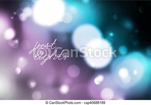 blurred lights background - csp40688189
