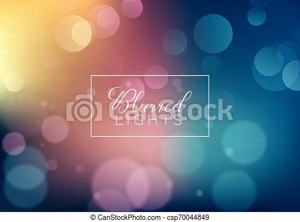 Blurred lights background - csp70044849