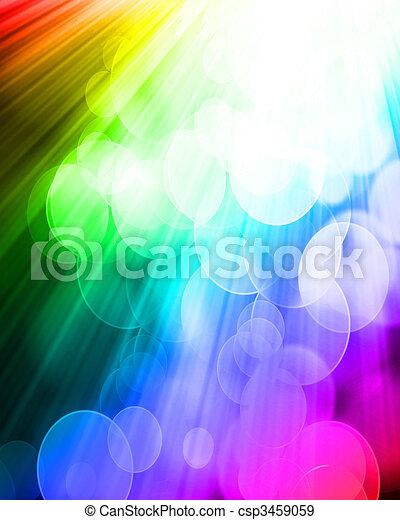 blurred lights - csp3459059