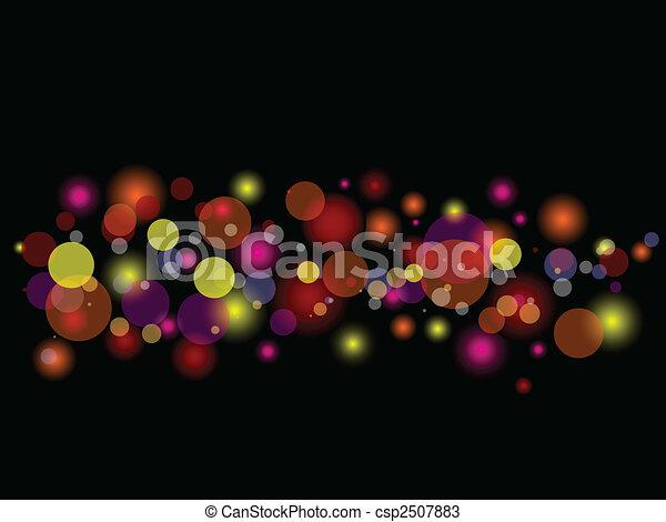 blurred lights - csp2507883
