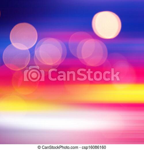 blurred lights - csp16086160