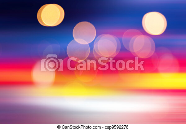 blurred lights - csp9592278