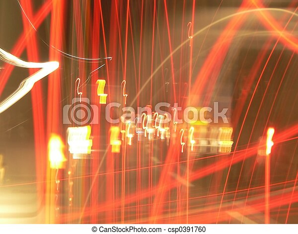 blurred lights - csp0391760