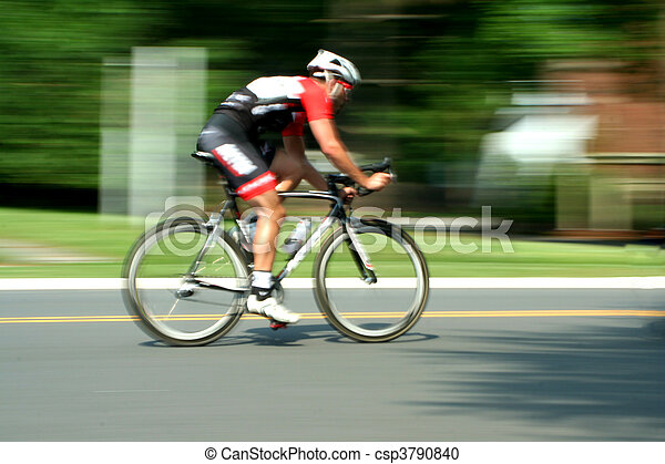 Blurred motion bicycle race - csp3790840