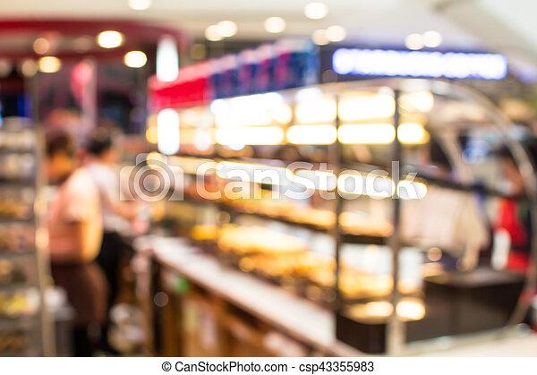 blurred  retail shop at  shopping mall - csp43355983