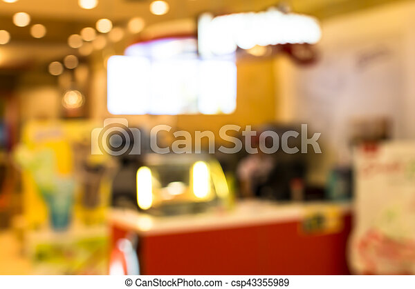 blurred  retail shop at  shopping mall - csp43355989