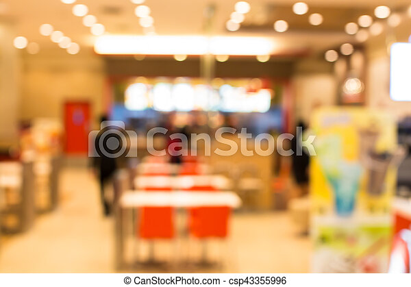 blurred  retail shop at  shopping mall - csp43355996