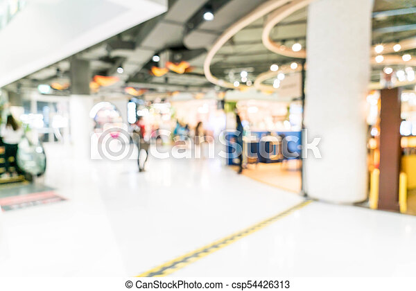 blurred shopping mall and retail store - csp54426313