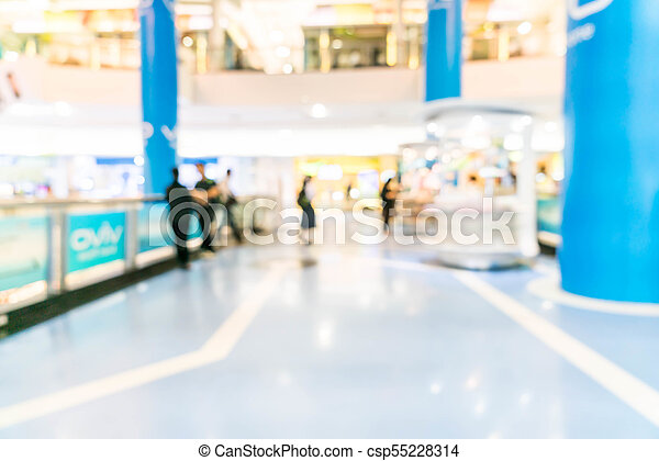 blurred shopping mall and retail store - csp55228314