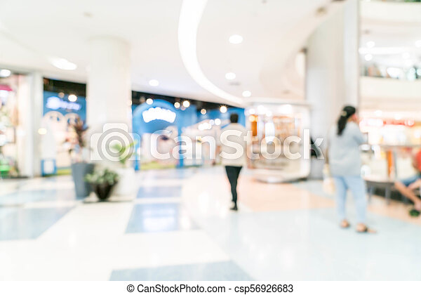 blurred shopping mall and retail store - csp56926683