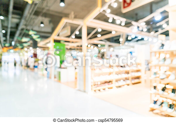 blurred shopping mall and retail store - csp54795569