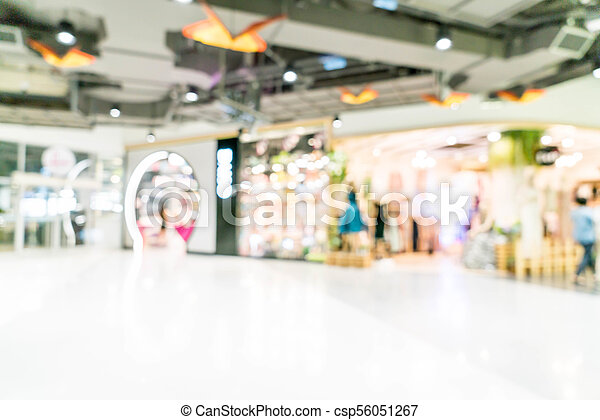blurred shopping mall and retail store - csp56051267