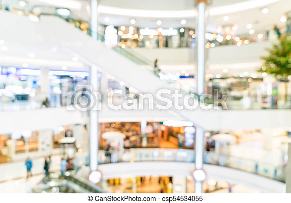 blurred shopping mall and retail store - csp54534055