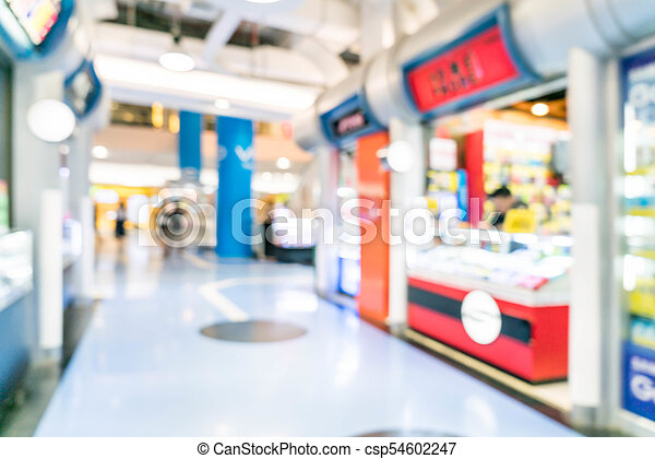 blurred shopping mall and retail store - csp54602247
