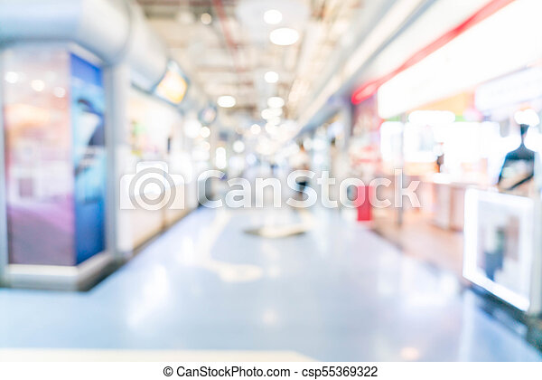 blurred shopping mall and retail store - csp55369322