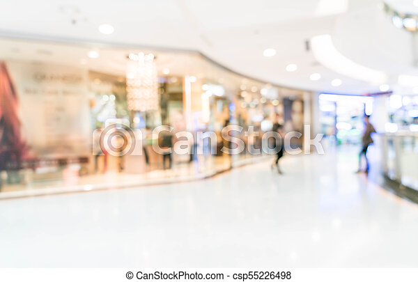 blurred shopping mall and retail store - csp55226498