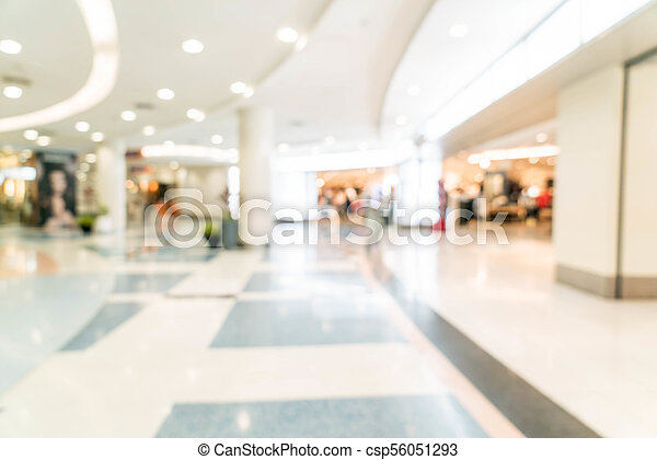 blurred shopping mall and retail store - csp56051293