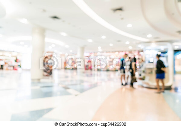 blurred shopping mall and retail store - csp54426302
