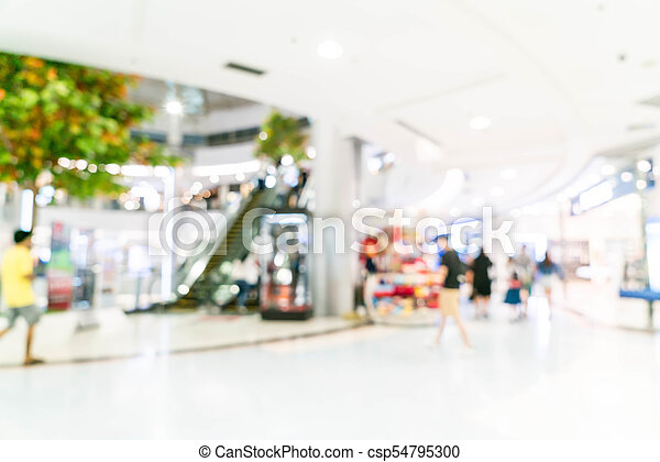 blurred shopping mall and retail store - csp54795300