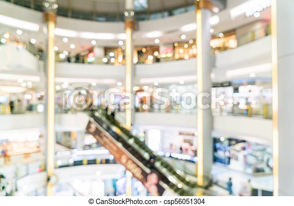 blurred shopping mall and retail store - csp56051304