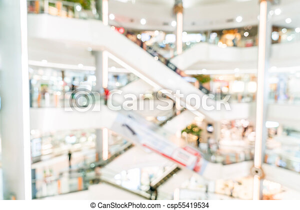 blurred shopping mall and retail store - csp55419534