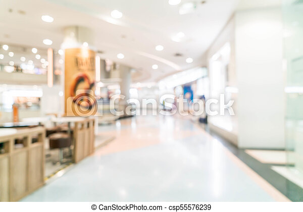 blurred shopping mall and retail store - csp55576239