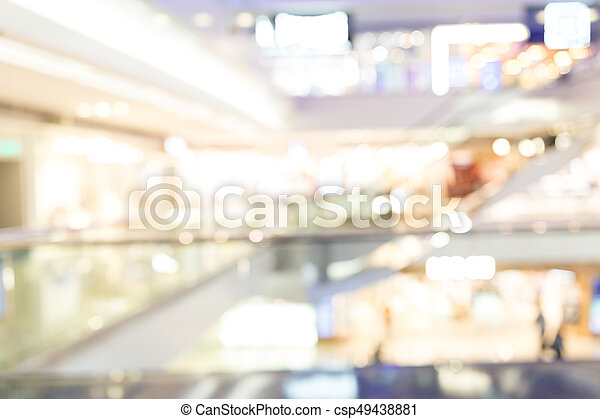 Blurred shopping mall background - csp49438881