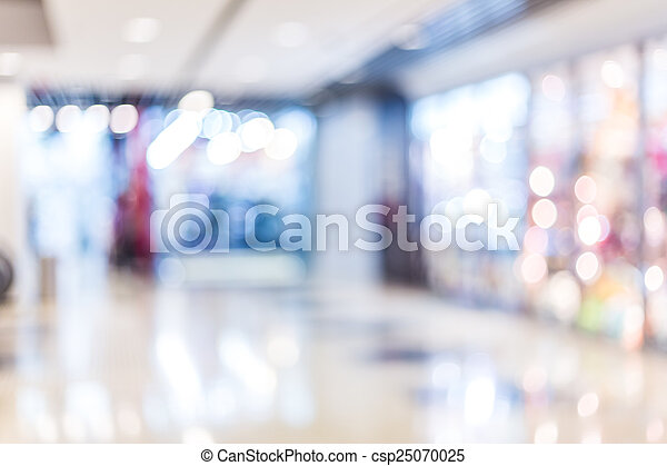 Blurred shopping mall background - csp25070025