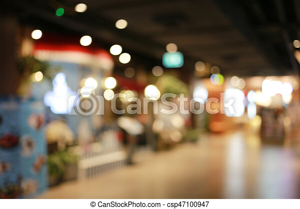 Blurred shopping mall or indistinct department store. - csp47100947