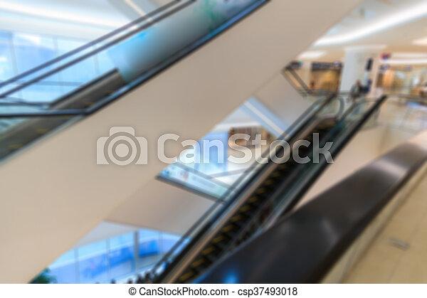 Blurred shopping mall - csp37493018