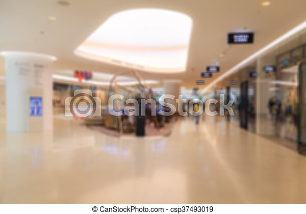 Blurred shopping mall - csp37493019