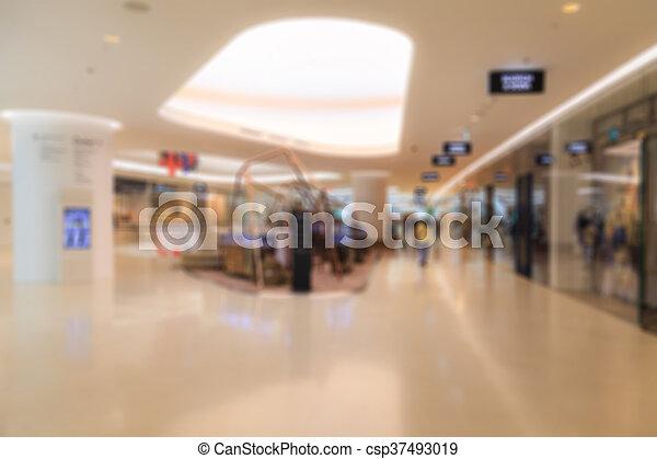 Blurred shopping mall - csp37493019