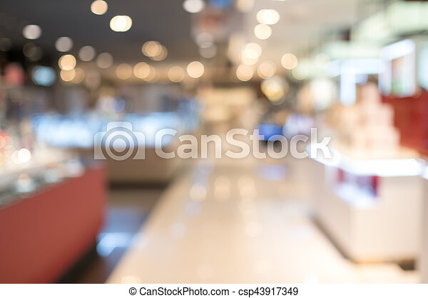 Blurred shopping mall - csp43917349
