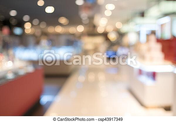 Blurred shopping mall - csp43917349