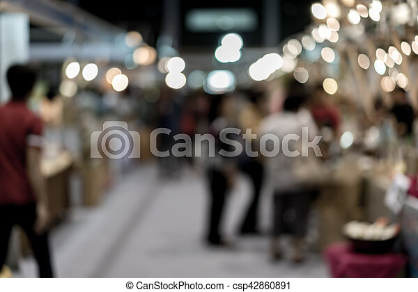 Blurred shopping mall - csp42860891