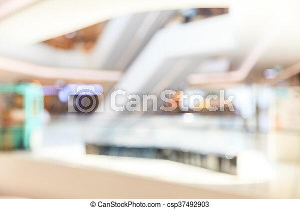 Blurred shopping mall - csp37492903